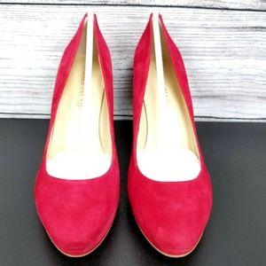 Ivanka Trump Shoes - NEW Ivanka Trump Sophia Suede Platform Pumps Heels
